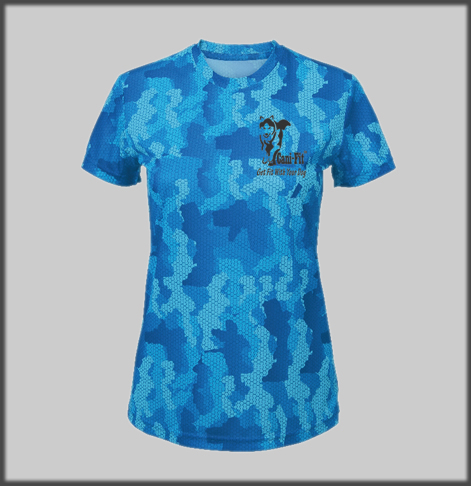 Cani Fit Female Hexoflage Tech T