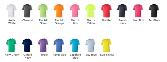 Cani Fit Tech T Colour Choice