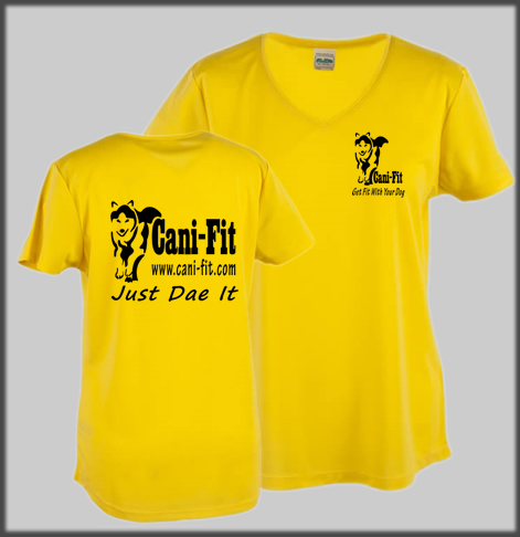 Cani Fit Technical Female V Neck T Shirt