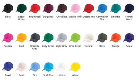 Cap Colours