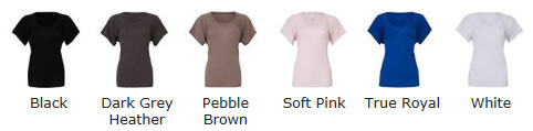 Flowy Raglan T Shirt colour Chart