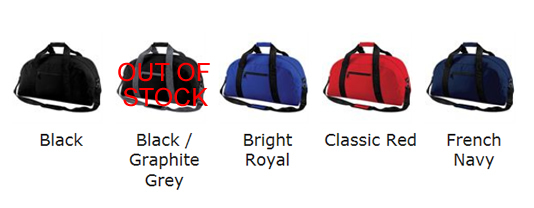 Holdall Colour Choices