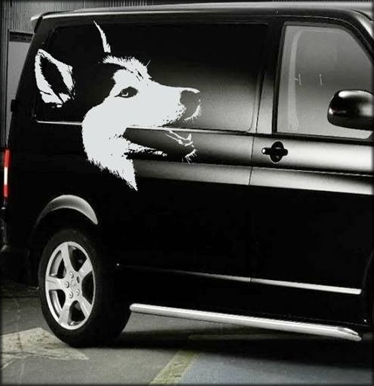 Husky face van decal