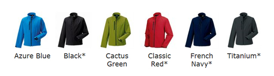 Softshell Colour Choices