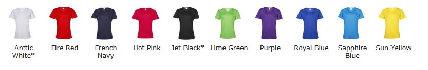 Technical V Neck Colour Choices
