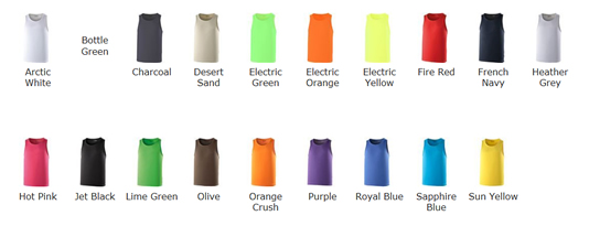 Technical Vest Colour Choices